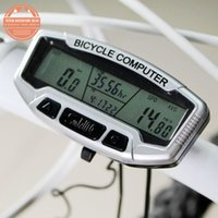 SunDing 558-A LCD rétro-éclairage Bike Wired Computer Waterproof Bicycle Odometer Speedometer Chronomètre Velomètre