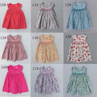 Wholesale Girls Leopard Print Skirts - Baby Dresses With Pink Floral Girls Beach Dress The Little Baby Girls Cute Dress Girls England Style Skirt Outside Clothes 2016 New Summer