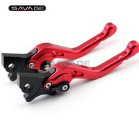 Leviers De Frein De Moto Rouge Pas Cher-Pour Vespa 300/250/200 Granturismo / GTS300 / GTS250 Red Motorcycle Billet Aluminium Adjustable Short Left Right Brake Levers
