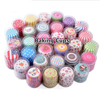 Wholesale beautiful cups online - New Beautiful styles holiday party Paper Cup Cake Liners Muffin Cases Cupcake Mold Baking Cups muffin cups Wedding party cupcake cup I108