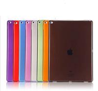 ipad contraportada de gel al por mayor-Soft Gel TPU Clear Case para iPad 2018 Silicone Silk Slim Cover transparente nuevo para iPad Pro Air 7 6 5 4