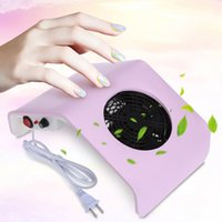 Wholesale 220V V Nail Fan Acrylic UV Gel Machine Nail Dust Collector Art Salon Suction Dust Collector Machine Vacuum Cleaner Salon Tool