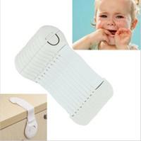 bebek güvenlik kapı kilitleri toptan satış-Bebek Güvenlik Kilitleri Plastik Çocuk Koruma Kilidi Dolap Kapı Çekmeceler Buzdolabı Tuvalet Kilidi Çocuklar Bebek Bakımı Emniyet Kilidi KayışYYA211