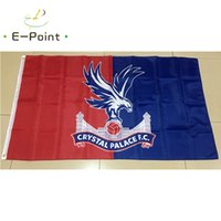 Wholesale palace crystals - England Crystal Palace FC 3*5ft (90cm*150cm) Polyester EPL flag Banner decoration flying home & garden flag Festive gifts