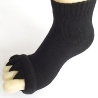 Wholesale Toe Socks For Women Wholesale - Wholesale-Fashion Japan Style Socks Cotton 5 Toe Separator Foot Alignment Pain Relief Socks For Women Wholesale 2015