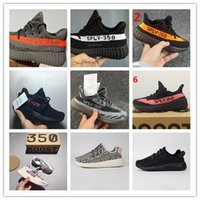 Wholesale Summer Cotton Girls - NEW with box Real boost Boys Girls kanye west sply 350 v2 Shoes black pirate Children's Fashiion Athletic Shoes youth running Shoes