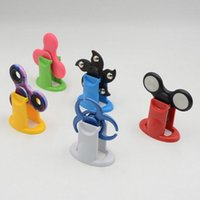 Wholesale Stand Display For Toy - Hard Plastic Display Stands Stand Holder Kicstand For Tri Finger Hand Spinner Fidget Spinner Triangle Finger Spinning Top Fingers Toys