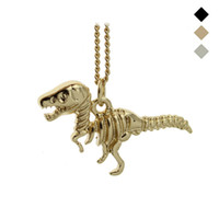 "Wholesale Heart Bronze Necklace - 2015 New Hot Fashion Gold Black Bronze Tone Jewelry Dinosaur Pendant 16"" Short Necklace Birthday Gift For Sweet Heart Girl EG018"