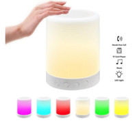 Wholesale Smallest Stereo Speakers - Portable Mini LED Bluetooth Speakers Wireless Small Music Audio TF USB FM Light Stereo Sound Speaker For Phone Xiaomi with Mic