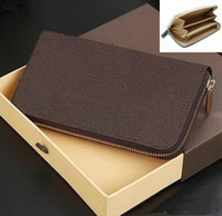Wholesale New Zipper Wallets For Mens - Hot Sell !!! Wholesale and retail !!! 2017 new brand mens and womens Zipper wallets purse card Holders (6 color for pick)