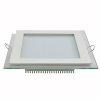 Wholesale Down Led - Cree LED Down Lights Recessed glass Downlight Round Square led ceiling panel light Cool Warm white LED lighting AC100-240V CE SAA