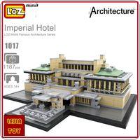 Wholesale idea models - LOZ ideas Mini Block Imperial Hotel Tokyo Japan Hotels Architecture Building Blocks DIY Toy Bircks Children Birthday Gift Model Toys 1017