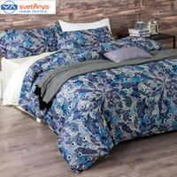 Wholesale Double Set 4pc - Wholesale-100% egypt Cotton Bedlinen Luxury bedclothes King Queen double size bedcover Doona duvet cover sheet pillowcase 4pc bedding set