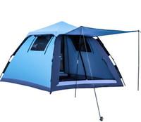 instant zelt im freien großhandel-Heißer Verkauf Camping zelt Instant Schnell Cabana Wandern Zelt Im Freien Automatische Faltbare Sun Shelter 3 - 4 Personen Tragbare UV Schutz