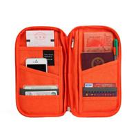 Wholesale Travel Wallet Document Holder - Brand Travel Passport ID Card Storage Organizer Wallet Women Men Journey Document Ticket Holder Package Cotton Linen Clutch Bag Cash Purse