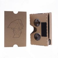 Wholesale Vr Reality - DIY Google Cardboard 2.0 V2 glasses VR boxes Virtual Reality 3D Viewing google II Glasses with head strap for iphone 7 plus se Samsung S7