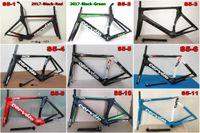 Wholesale Top Carbon Fiber Road Frames - Top sale 20 kinds of full carbon fiber 3K UD road bike frames carrowter-S5 with BBright Size 48-51-54-56-58cm free shipping