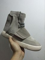 Wholesale fashion boots online - 2017 Cheap Online Wholesale Boost 750 Pirate Black Women Men Kanye West shoes Classic Sports Running Fashion Sneaker Boosts 36-46