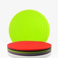All'ingrosso-Round silicone antiscivolo Isolamento termico isolante Mat Kitchen Table Placemat Tablemat per Piatto Tazza da tavola Pot Pad