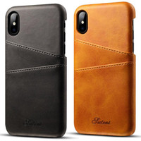Wholesale variety business - Creative Leather Phone Case PU For Iphone 8 8plus 7 7plus x Samsung Note8 S8 S8Plus Business Leather Color Variety Of Protective Cover