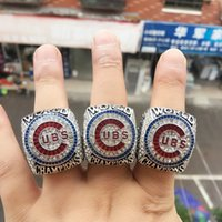 Wholesale 3Pcs Set BRYANT RIZZO ZOBRIST Chicago Cubs World Series Championship Ring size AAA