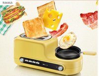 Wholesale Bear multifunctional toaster toaster breakfast machine toaster eggboilers steamed egg Fried Eggs DSL A02Z1