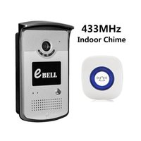 kostenlose videos handys großhandel-eBELL Home Security HD Smart-Wi-Fi-Video-Türklingel-Kamera mit Indoor-Glockenspiel Kostenlose App für Android iOS-Geräte Support Handy entsperren