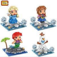 Wholesale Wholesale Mermaid Toy - LOZ big gift box 9497 Elsa series block Best Gift For kids Mermaid Diamond Blocks, Olaf 3d Blocks Toys 9497-9500
