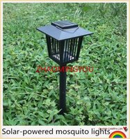 1PCS Solar Insect Pest Bug Mosquito Killer Zapper Lampe Garden Lawn Light Mosquito Killer Water-proof Zapper Lampe Garden Lawn Light