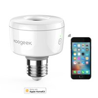 Wholesale E27 Adapter Socket - Koogeek Wi-Fi Enabled Smart Socket E27   E26 Light Bulb Adapter Works with Apple HomeKit Support Siri Voice Control Home App SK1