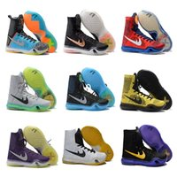 Wholesale Kb Christmas Shoes - 2017 KOBE 10 ELITE Men's Christmas High Top Weaving Basketball Shoes Trainers Perspective KB 10 Sneakers Shoes size US 7-12