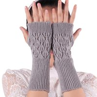 Wholesale Delicate Fingerless Gloves - Wholesale- Delicate Novelty wholesale Luxurious Knitted Warm Gloves Free Size nor5922