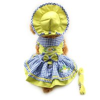 armipet Flower Pattern Abiti per cani Princess Dress Dogs 6071055 Pet Supplies (Vestito + Cappello + Mutandine + Leash = 1set