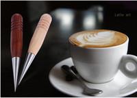 Wholesale Tamper Barista - Barista Cappuccino Espresso Coffee Decorating Latte Art Pen Tamper Needle Creative High Quality coffee decorating pen