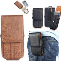 Clip Belt Holster PU Leather Wallet Card Case com fivela para iPhone 6 7 8 X Samsung Note8 ZTE HTC Huawei Lenovo LG 5.1 5.5 6.3inch