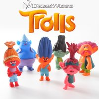 10cm Dreamworks Cartoon Movie Trolls jouets en PVC Figurines d'action Poppy DJ Guy Diamant Cooper Direction Critter Toys Enfants Cadeau MD031
