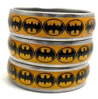 Wholesale Wholesale Batman Party Plates - 25pcs batman Stainless Steel Rings Mixed Fashion Rings Wholesale Jewelry Lots