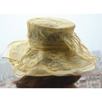 Womens Lace Wide Brim Kentucky Derby Race Formal Occasion Organza Wedding Party Chapeau à l'église A198