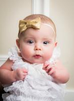 Wholesale Bling Bow Hair Bands - Lovely Baby Kids Girls Children Sequin Bowknot Hairband Headband Bling Glitter Bow Headdress Hair Band Accessories