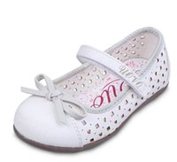 Wholesale Dress Shoes For Little Girls - children little girls dress shoes girls princess shoes bowtie white shoes Soft pretty comfortable for kids girls