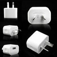 Wholesale Iphone Charger Australia - NEW 5V 2A Australia New Zealand US EU  Plug USB AC Power Travel wall home charger For iPhone For samsung