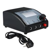 tatuaje controlado controlado al por mayor-Fuente de alimentación de tatuaje digital de doble salida para la máquina de tatuaje Control de velocidad Luz LED Enchufe de la UE Accesorios para tatuaje