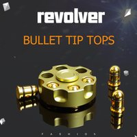 Wholesale Plastic Revolver - new Luxury EDC Fidget Hand Spinner Creativity Revolver Bullet Style Brass Metal Detachable Fingertips Gyro Anti Stress Gyro Toys