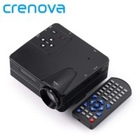 Wholesale Dvd Home Cinema - Wholesale-Crenova Full HD Home Theater Cinema LCD Image System 800 Lumens Mini LED Projector with AV VGA SD USB HDMI for DVD PC