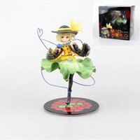 Wholesale Touhou Project Anime Figure - Japanese ques Touhou Project Anime Komeiji Koishi cute girl Anime figures boxed 20cm model Collection toys PVC kids gifts T7069