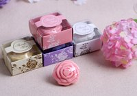 Wholesale Wholesale Baby Shower Soaps - 20pcs Cute Rose Soap For Wedding Party Birthday Baby Shower Souvenirs Gift Favor New