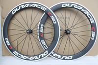 Wholesale Road Bike Wheel Rims - T1000 3k NEW TOP carbon road wheels 700C 60mm Aluminum alloy brake surface racing bike rim bicycle Clincher wheelset