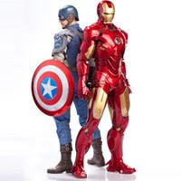 jeux vidéo de boîte à jouets achat en gros de-Marvel Superhero série PVC Action Figure Collection Modèle Jouets et Amérique MCU film héros figures pour Action Figure Jouet