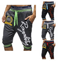 Wholesale Korean Style Harem Pants - Wholesale-1NWT Man Men's Korean Style Letter Printed Harem Casual 3 4 length Short Pants D10163