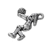dansçı takılar toptan satış-Spor Serisi Gümüş / Altın Bale Dancer Dangle Charm Takı Alaşım Insansı Aksesuarları DIY Kolye Takı 50 ADET